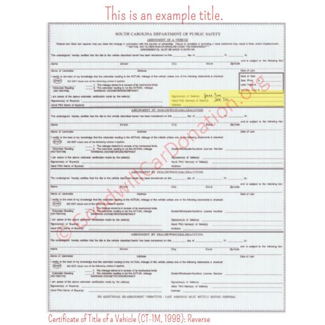 Reprint Vehicle Registration - Connecticut