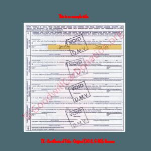 TX - Certificate of Title - Original (30-C, 6-93)- Reverse | Goodwill Car Donations