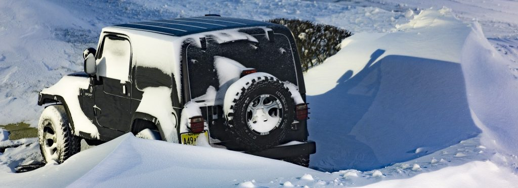 Jeep Covered in Snow, New Jersey - GoodwillCarDonation.org
