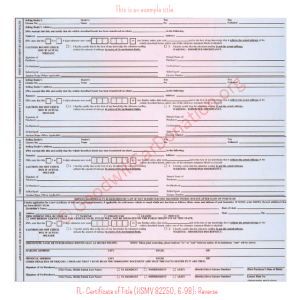 FL- Certificate of Title (HSMV 82250, 6-98)-Reverse | Goodwill Car Donations