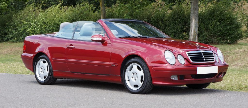 Red Mercedes Convertible in Haltom City, Texas | Goodwill Car Donations