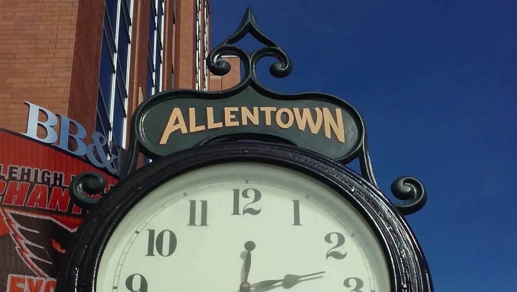 Clock in the streets of Allentown, Pennsylvania | Goodwill Car Donations