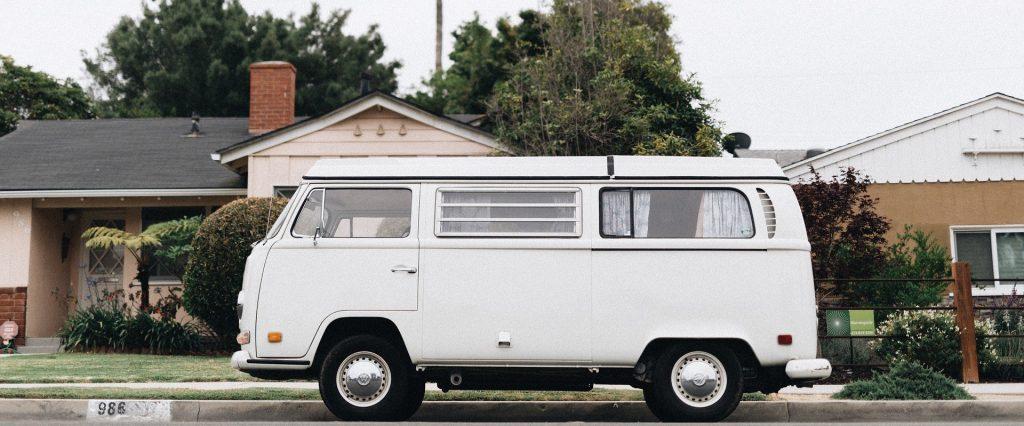 Oldtimer White Van in Kilmarnock, Virginia | Goodwill Car Donations