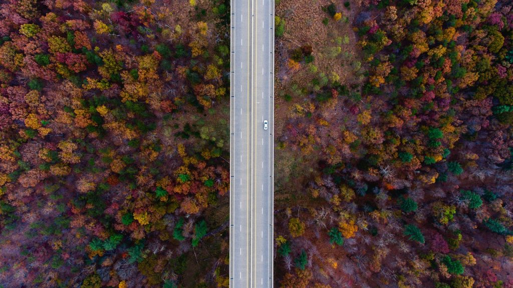 Aerial View of a Highway in Lancaster, Pennsylvania | Goodwill Car Donations