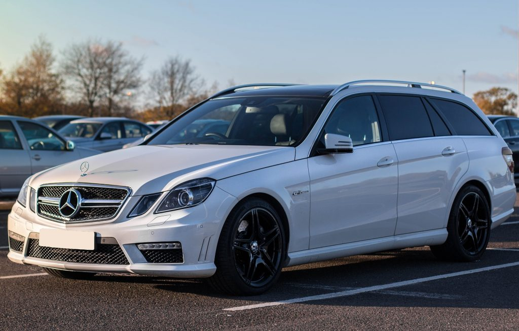 Parked White Mercedes-Benz in Maudlin, South Carolina   Goodwill Car Donations