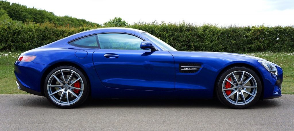 Blue Mercedes-Benz Sports Car in Chappaqua, New York | Goodwill Car Donations