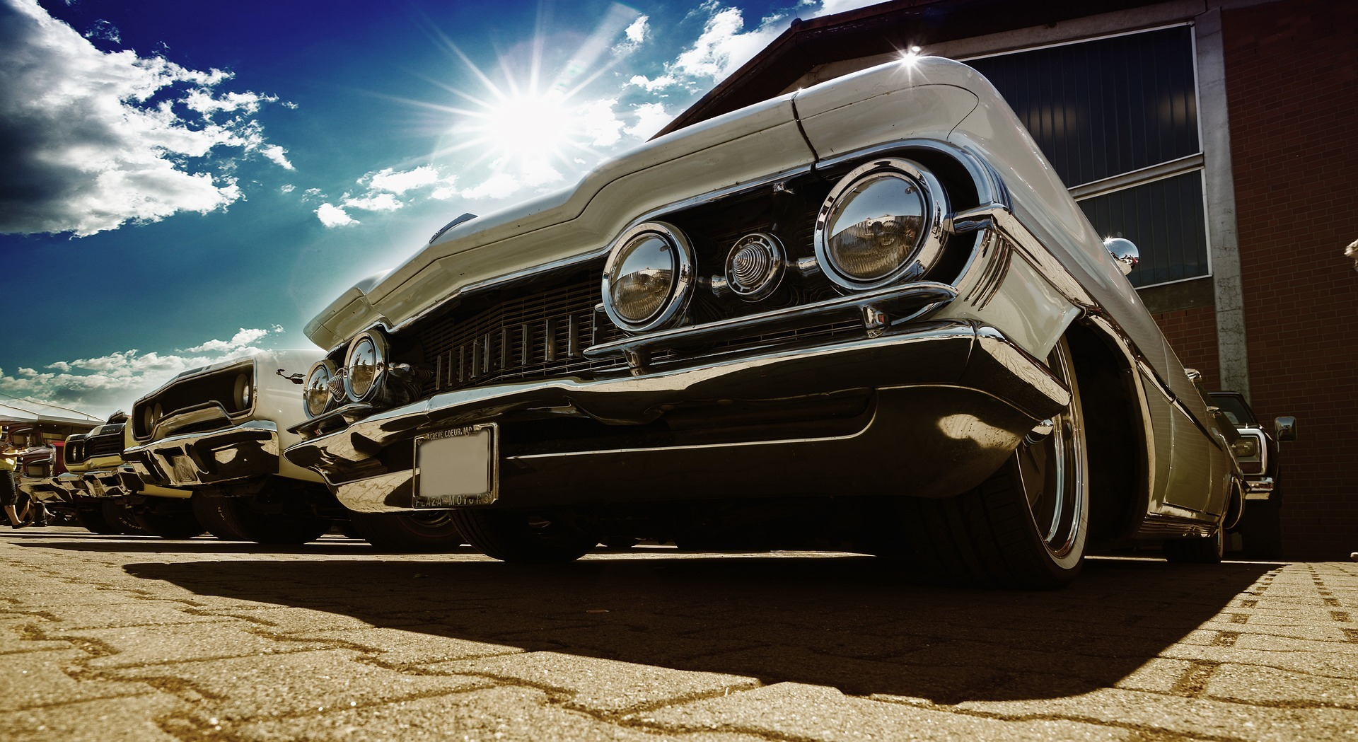 Parked Oldtimers in Clinton, Maryland - GoodwillCarDonation.org