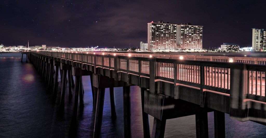 Night View at the Pier in Panama City, Florida | Goodwill Car Donations