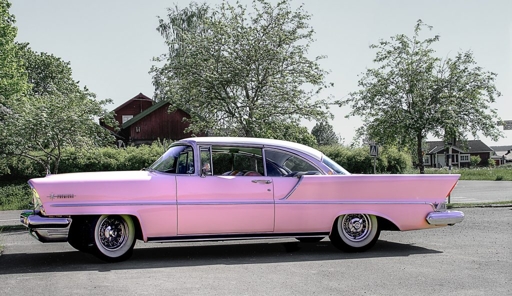 Pink Oldtimer Car in Clinton, Maryland | Goodwill Car Donations