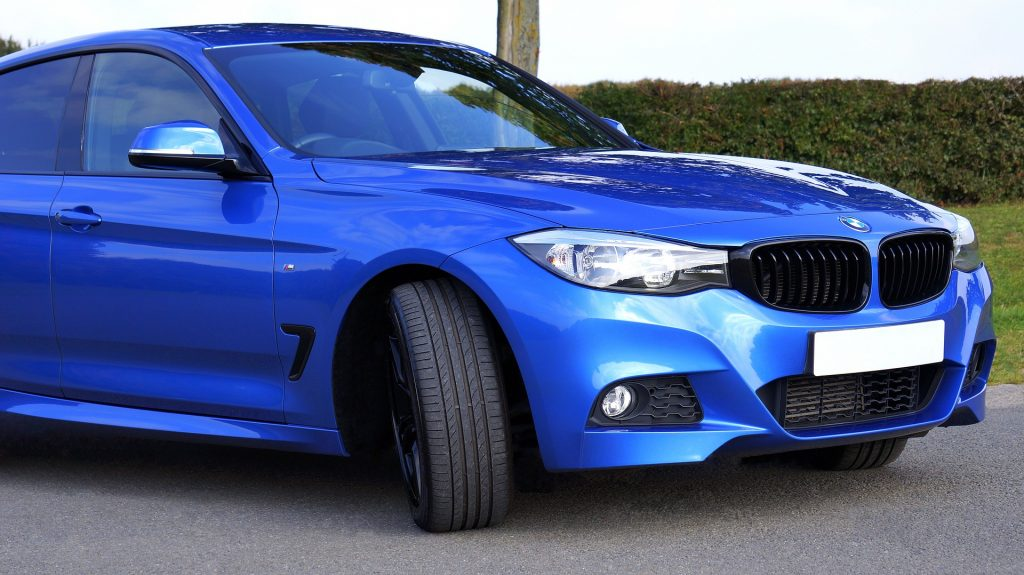 Parked Blue BMW in Potomac, Maryland   Goodwill Car Donations
