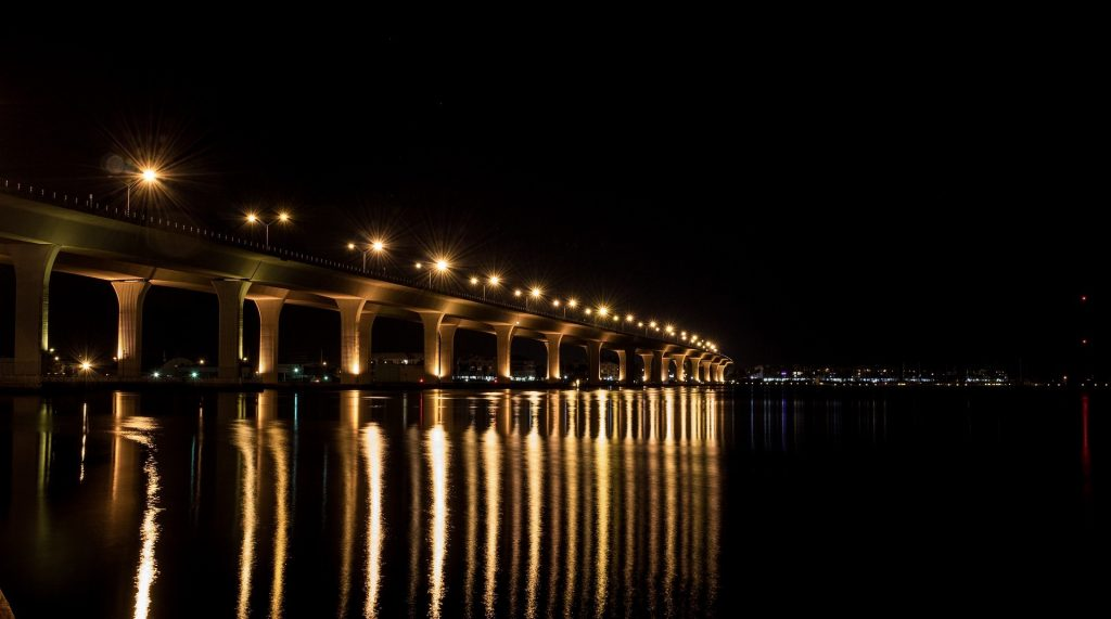 Bridge in Stuart, Florida At Night | Goodwill Car Donations