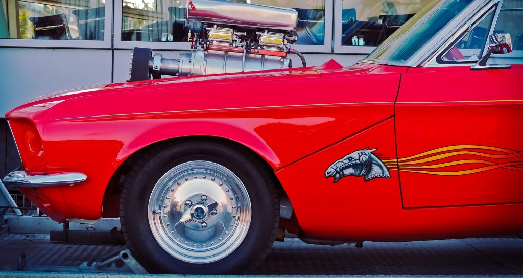 Classic Red Customized-Engine Oldtimer in Valparaiso, Florida | Goodwill Car Donations