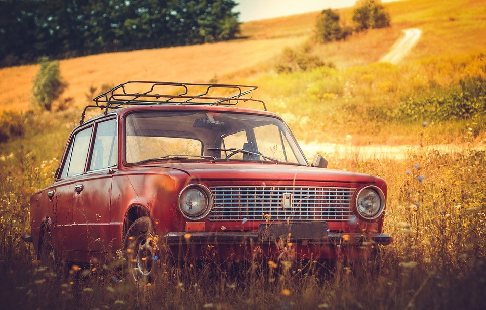 Old Car in Autumn Fields | Goodwill Car Donations