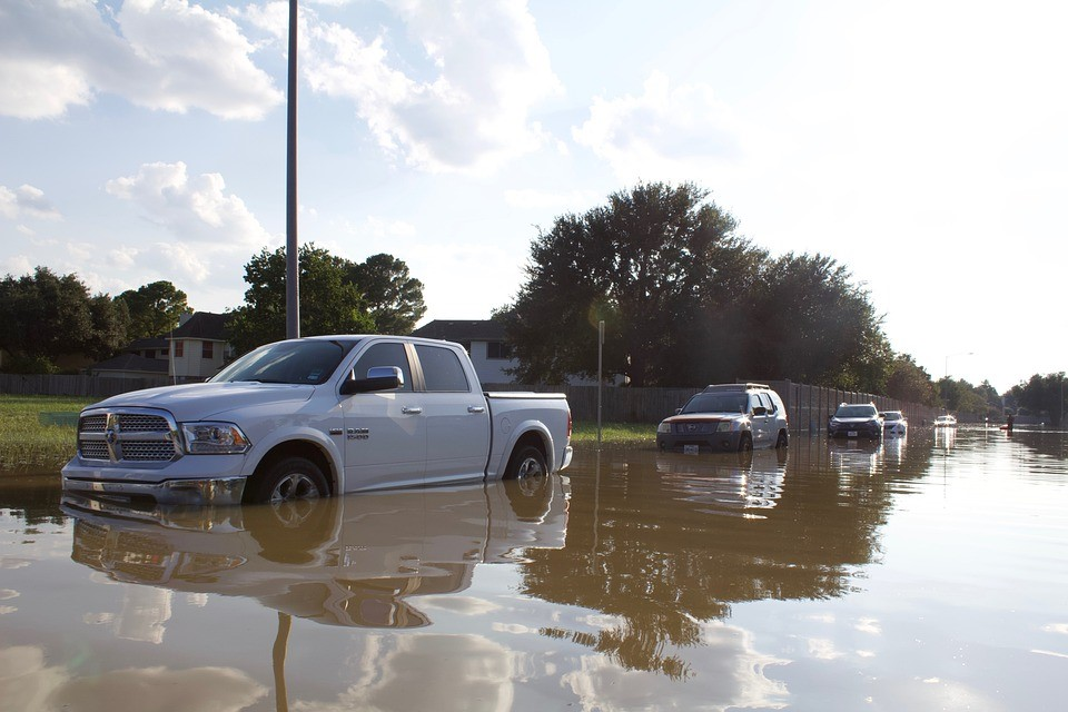 Flooded Cars on a Street | Goodwill Car Donations
