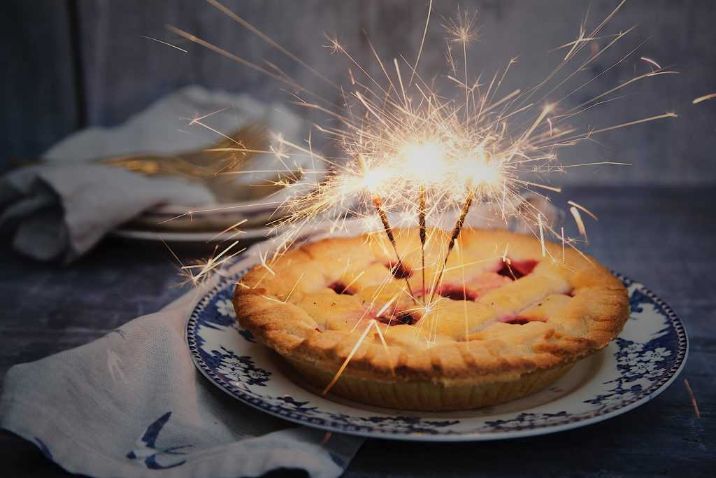 Brown Pie with Sparklers on Top | Goodwill Car Donation