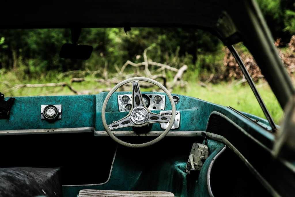 Oldtimer Car Interior in Manayunk, Pennsylvania | Goodwill Car Donations