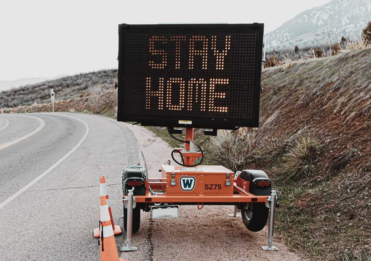 Stay Home Signage | Goodwill Car Donations
