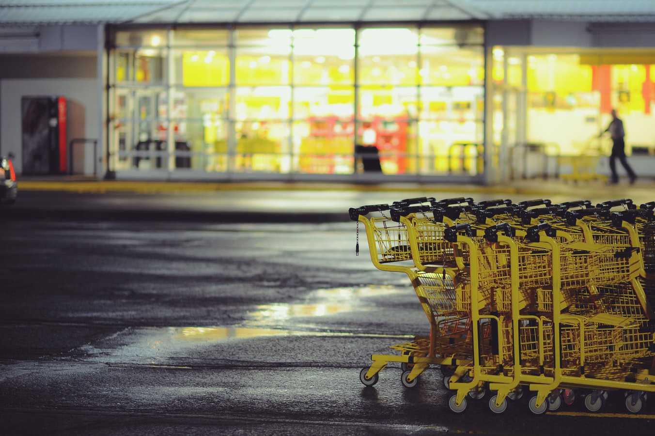 Yellow Shopping Carts   Goodwill Car Donations
