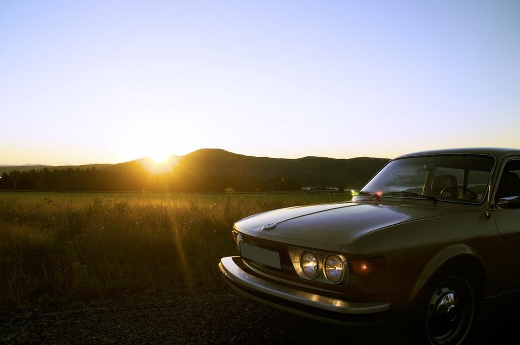 Retro Car At Sunset | Goodwill Car Donations