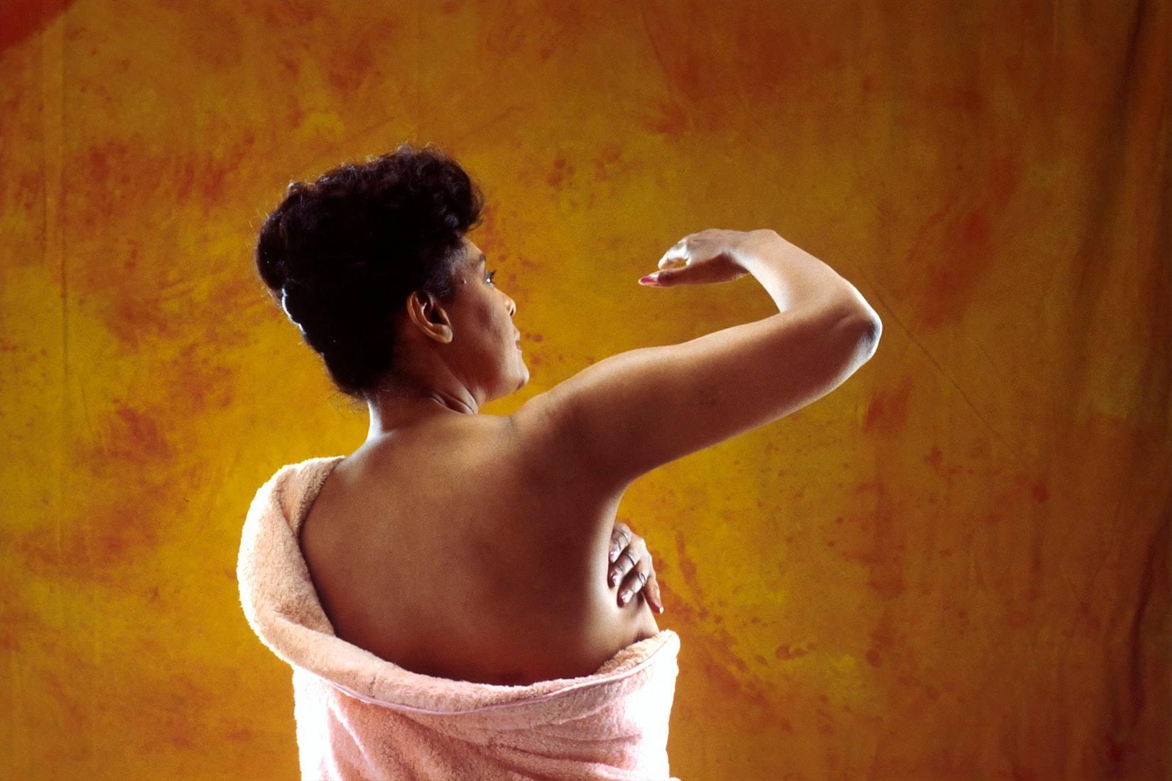 Woman Doing Breast Self Exam | Goodwill Car Donations