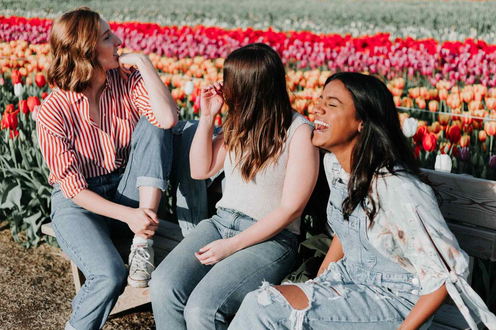 Happy Teens on a Flowerfield | Goodwill Car Donations