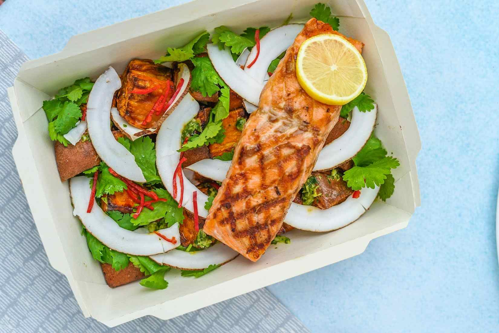Healthy Salad With Salmon | Goodwill Car Donations