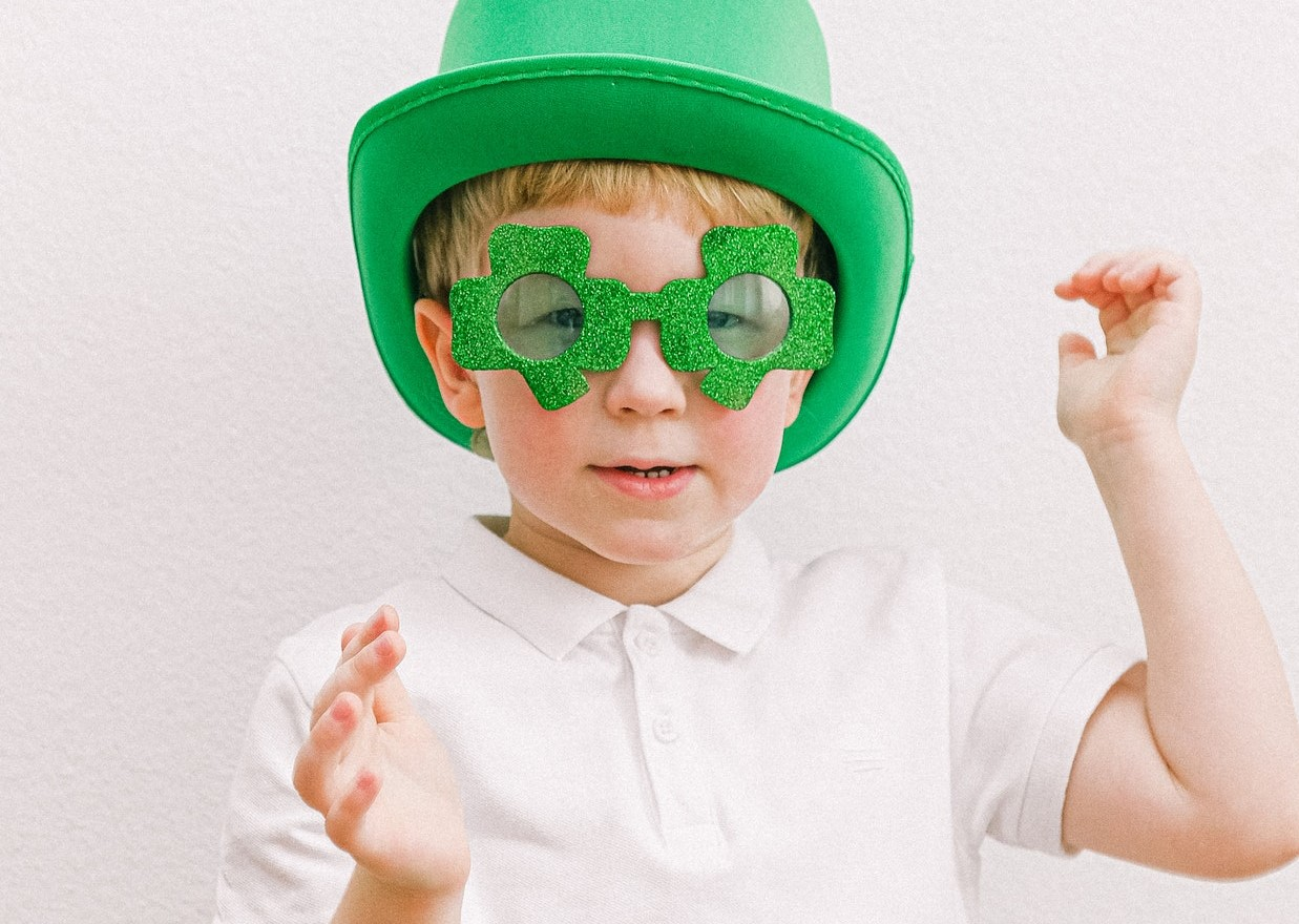 Kid Wearing St. Patrick Costume | Goodwill Car Donations