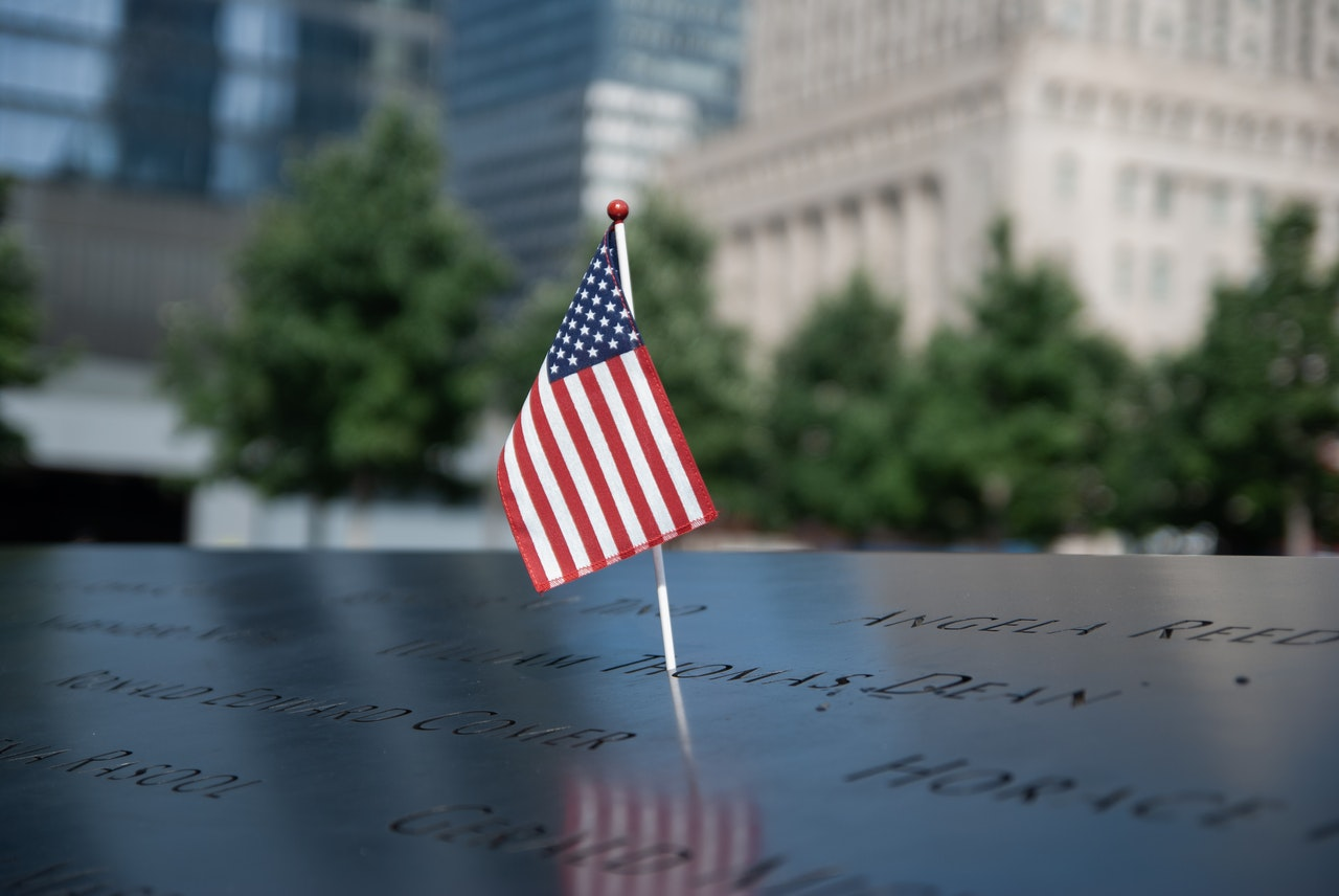 American Flag on 911 Memorial | Goodwill Car Donations